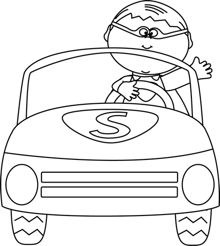 Driving clipart outline. Free car download clip