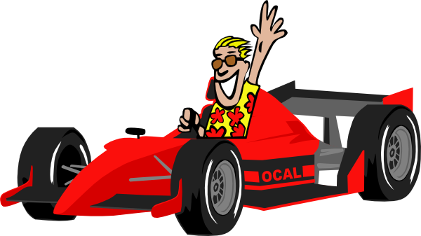 Driver clipart racing. Race car