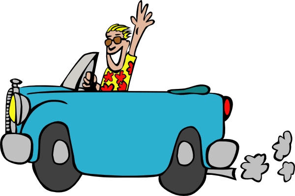 Driver vector car. Man driving clip art