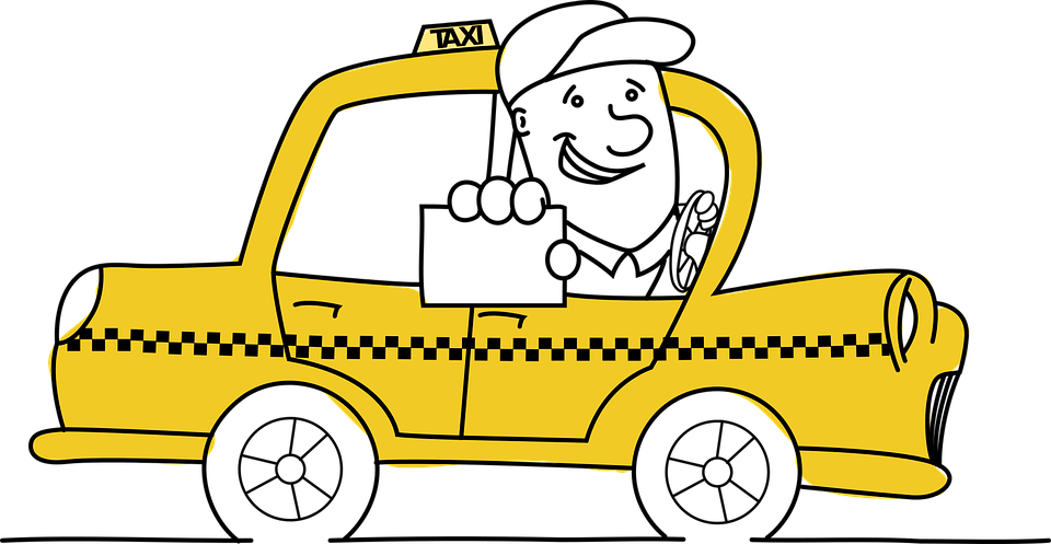 How to become a. Driving clipart cab driver jpg black and white