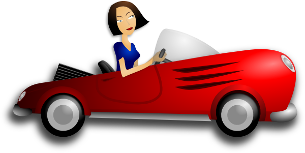 Female . Driver clipart graphic library stock