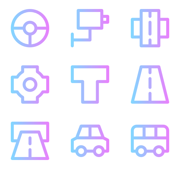Vector roads horizontal. Driver icons free traffic
