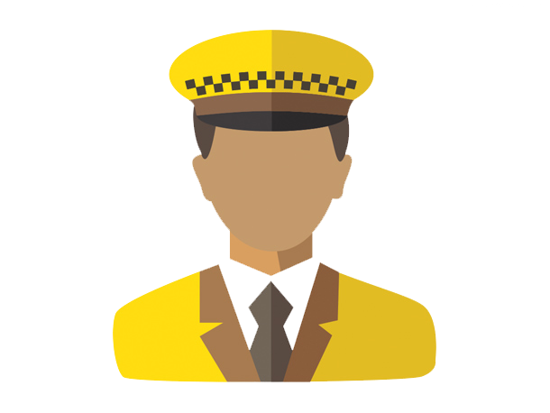 Driver vector cap. Taxi transparent background free