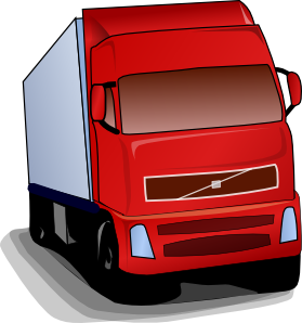 Truck clip art at. Trucking vector 18 wheeler graphic library download