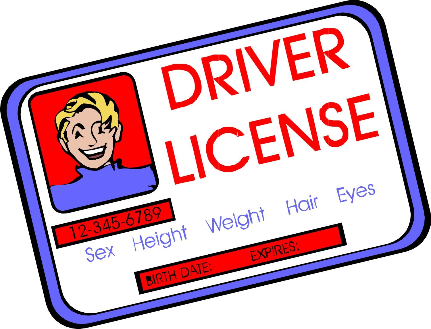 drivers license clipart driver licence