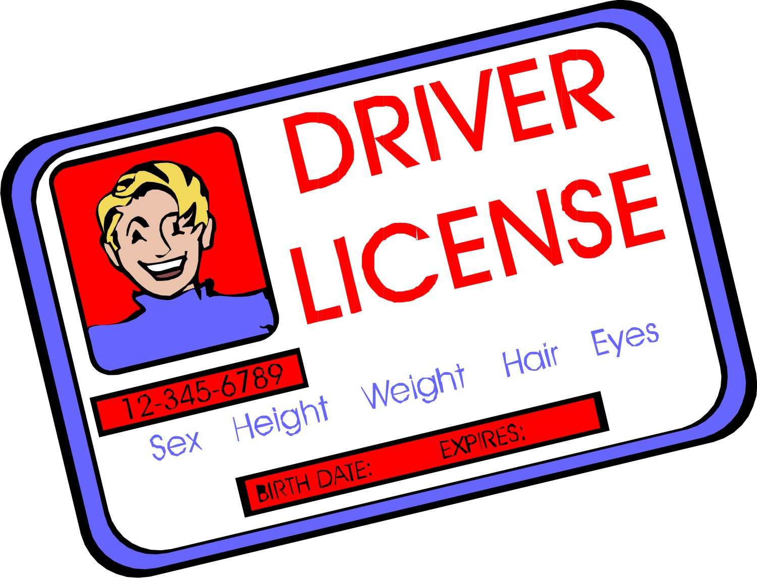 drivers license clipart valid driver