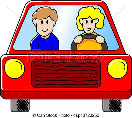 Driving clipart. The car vector illustration clip library stock