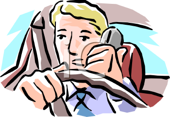 Man talking on the. Driving clipart clip art black and white download