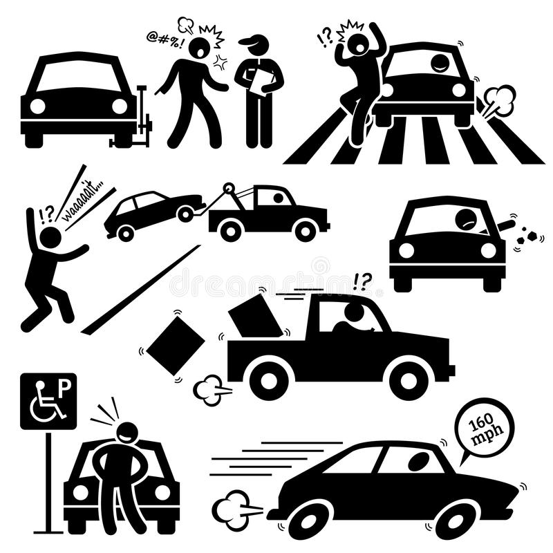 Driving clipart. Bad car driver furious graphic freeuse stock