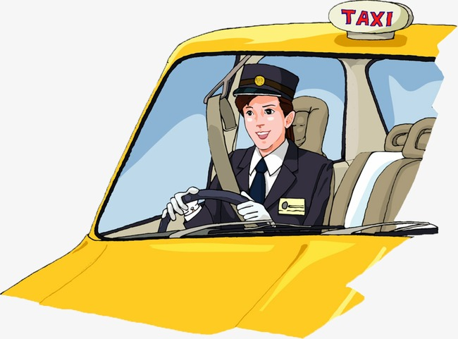 Taxi drive a car. Driving clipart cab driver image royalty free