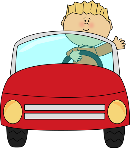 Driving clipart child. Boy a car and