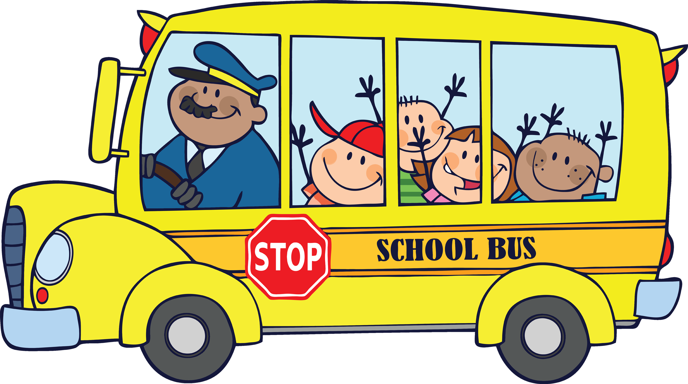 August clipart bus safety. School driver quotes panda