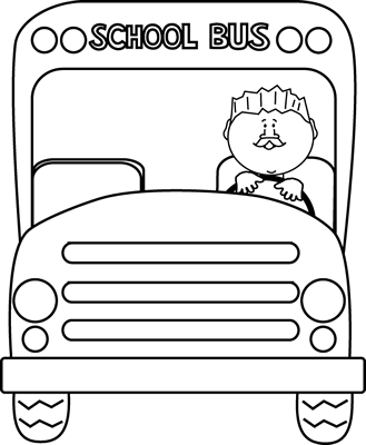 Driving clipart outline. Free school bus download