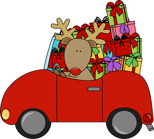 Driving clipart outline. Christmas list clip
