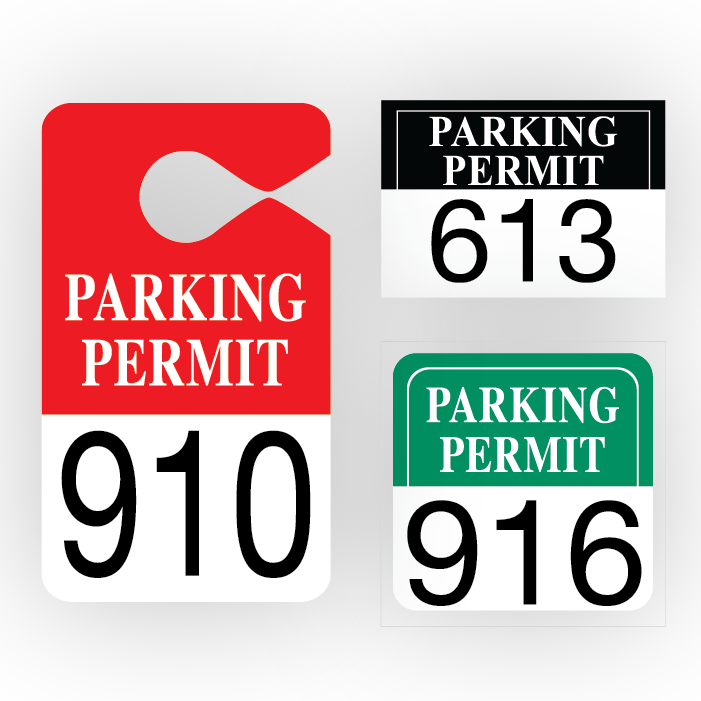 Driving clipart parking pass. Permits pro tuff decals