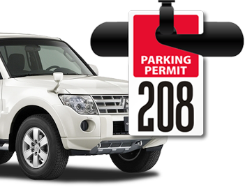 Driving clipart parking pass. Permits tags and stickers