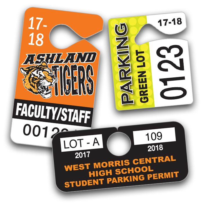 Permits pro tuff decals. Driving clipart parking pass banner freeuse download