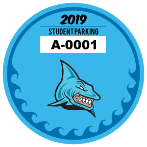 Driving clipart parking pass. Permit stickers and decals