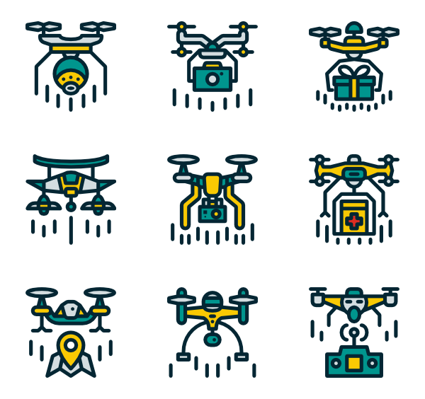 Vector drones png. Drone icons free