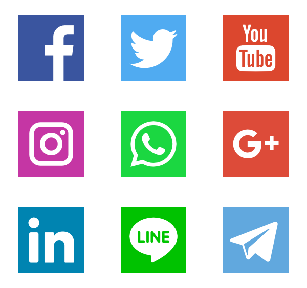 Facebook twitter instagram logos png. Icon packs for