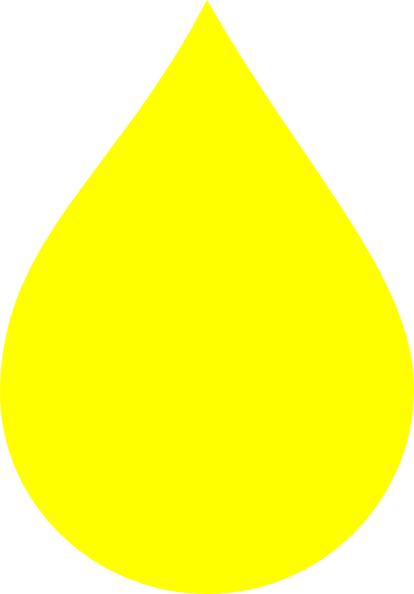 drop clipart yellow water