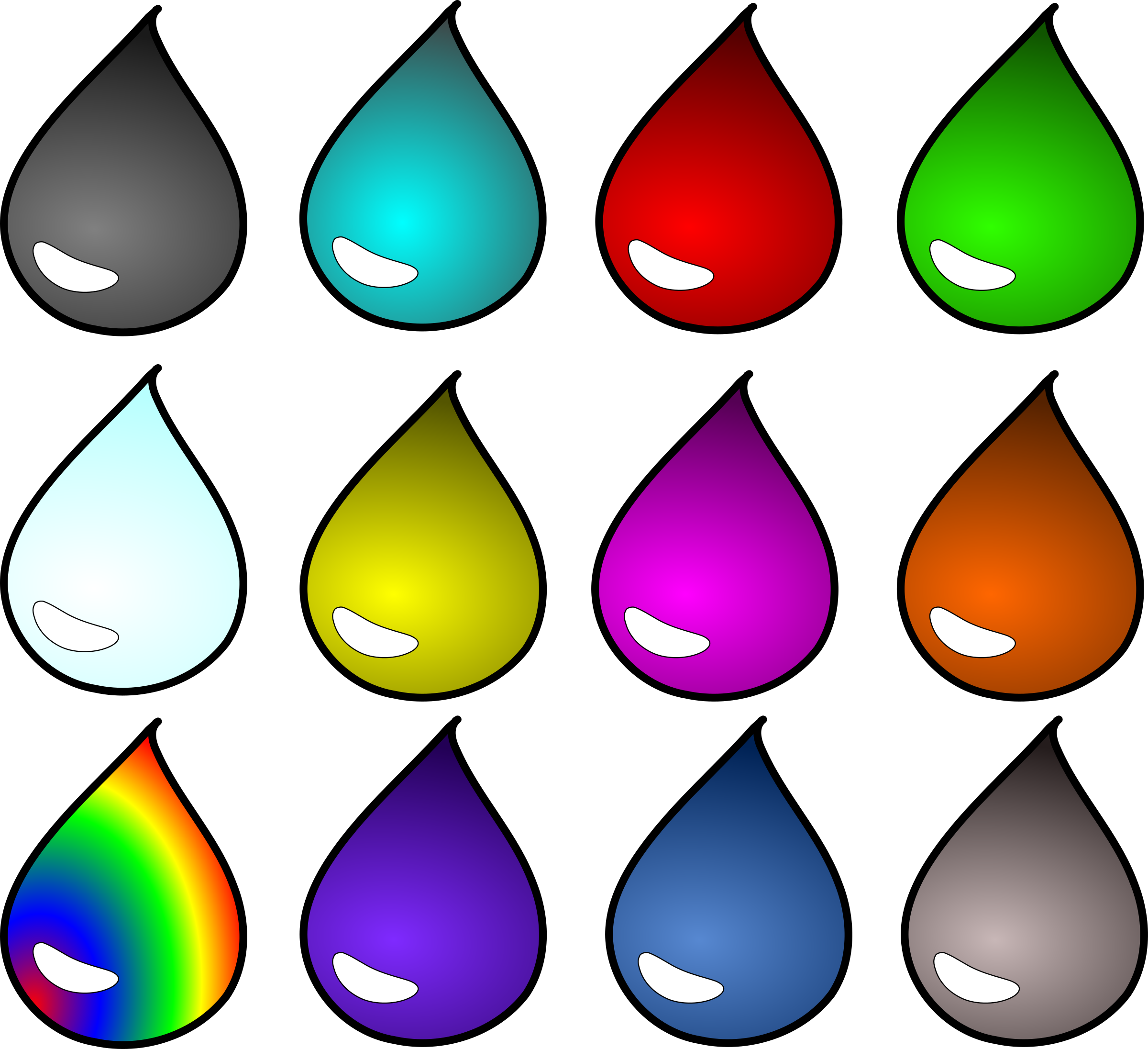 Droplet clipart big water. Colored image png