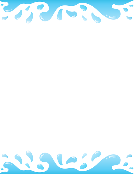 Droplet clipart border. Printable water free gif