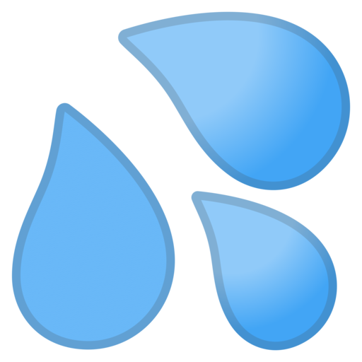 Droplet clipart sweat. Google android oreo