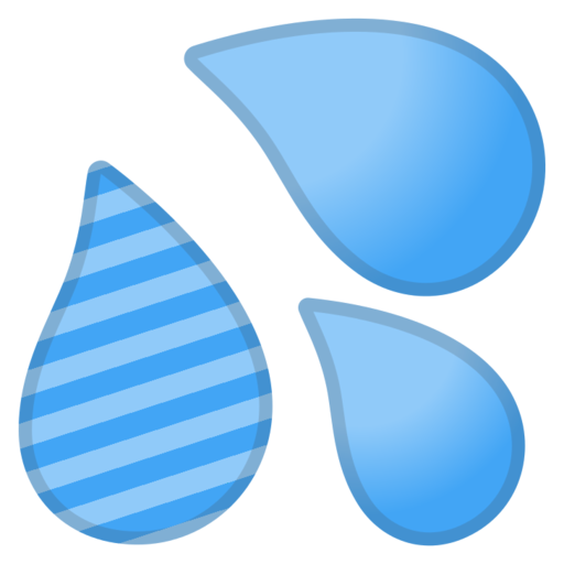 Droplet clipart sweat. Google android pie