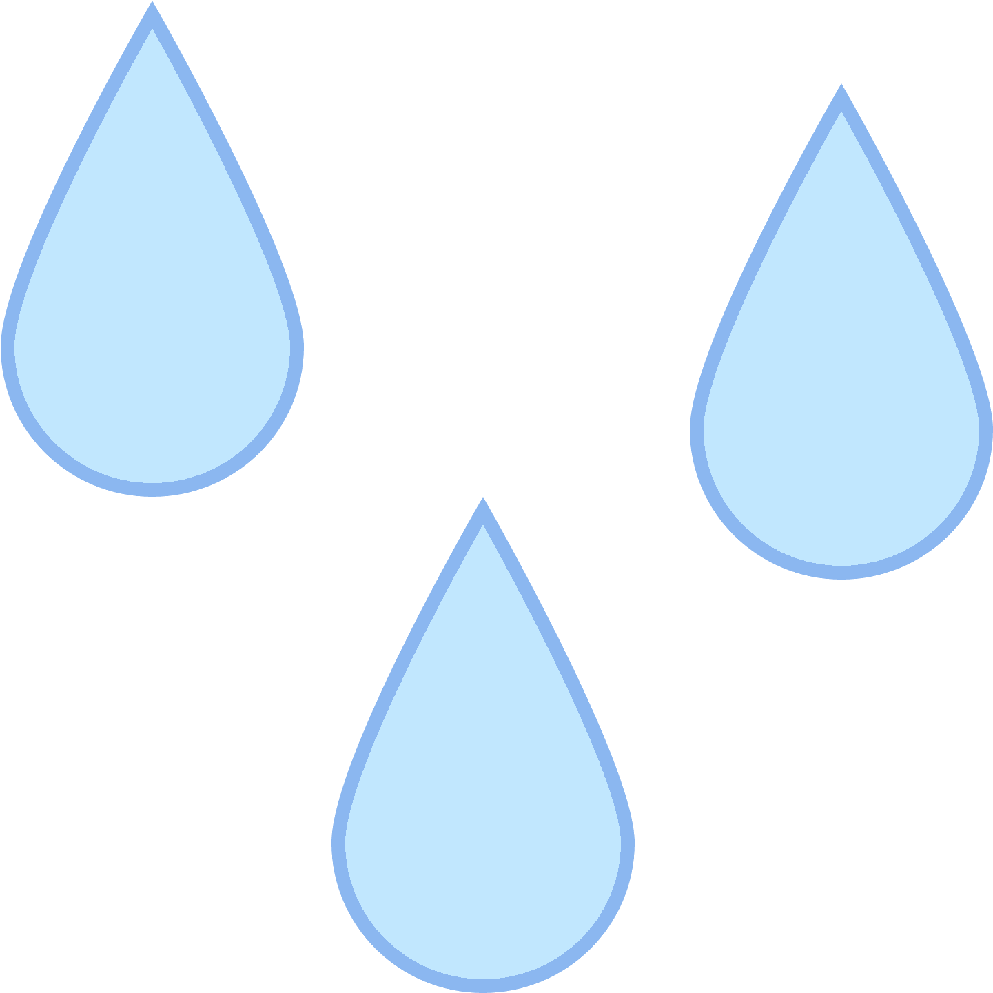 Droplets clipart three water. Download there are outlined