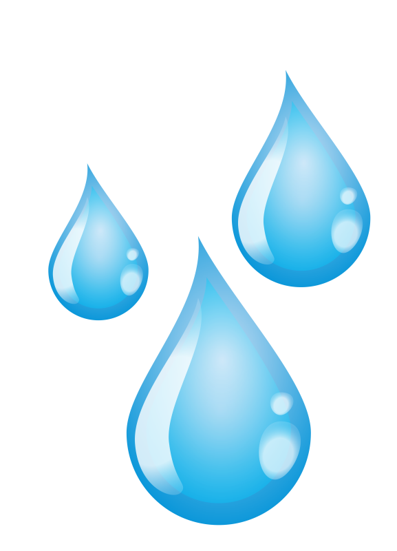 droplets clipart three water