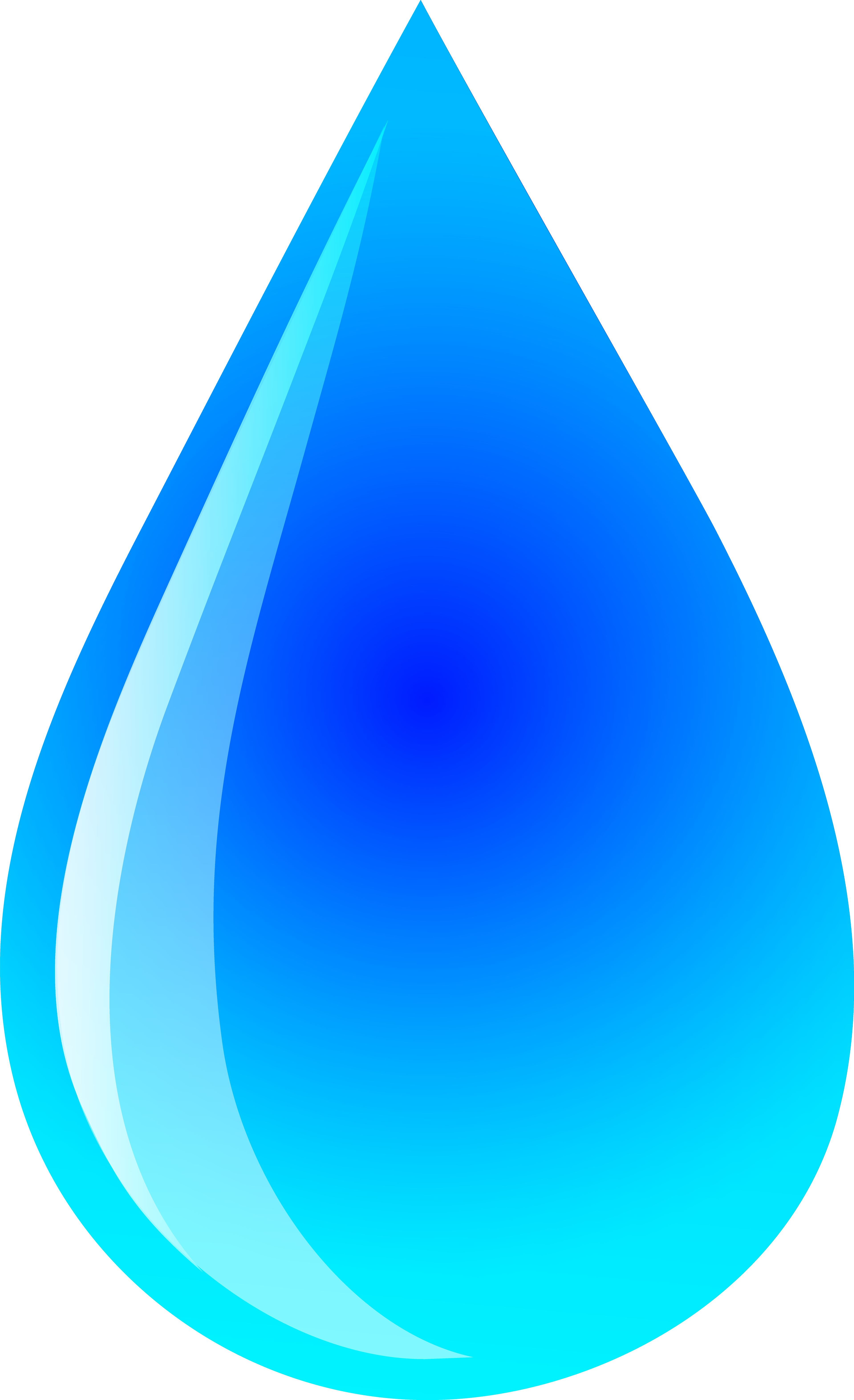 Blue water droplet logo. Drops clipart banner library download