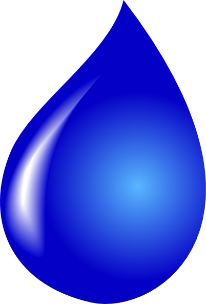 Tear clipart. Water drop black and