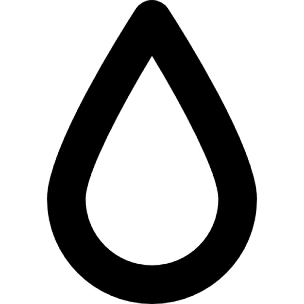 Water drop outline icons. Drops clipart teardrop shape picture freeuse download