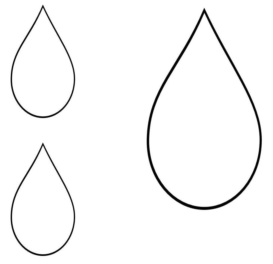 Printable template ideas pinterest. Drops clipart teardrop shape picture free download