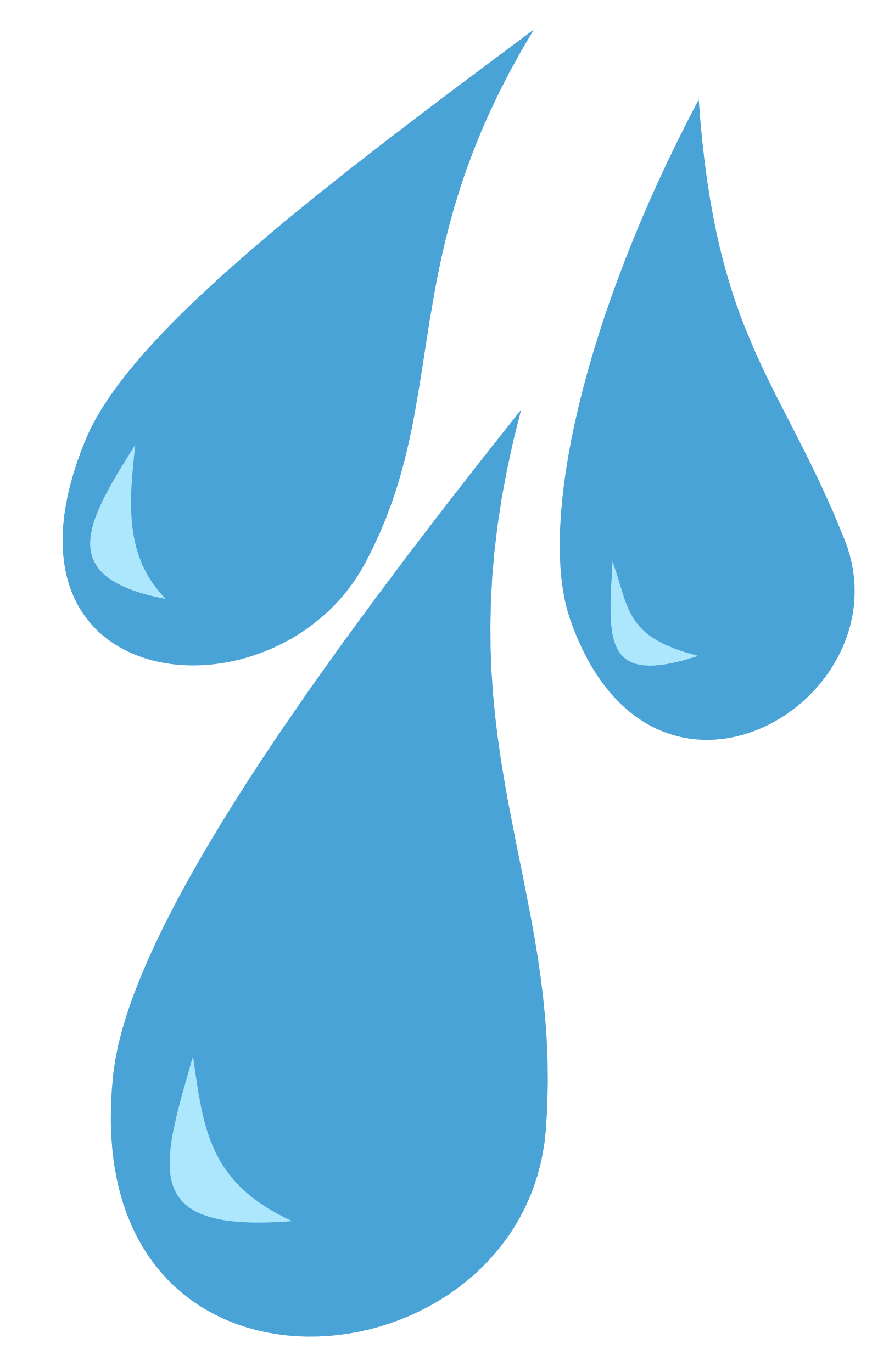 Drops vector. Collection of free dropt