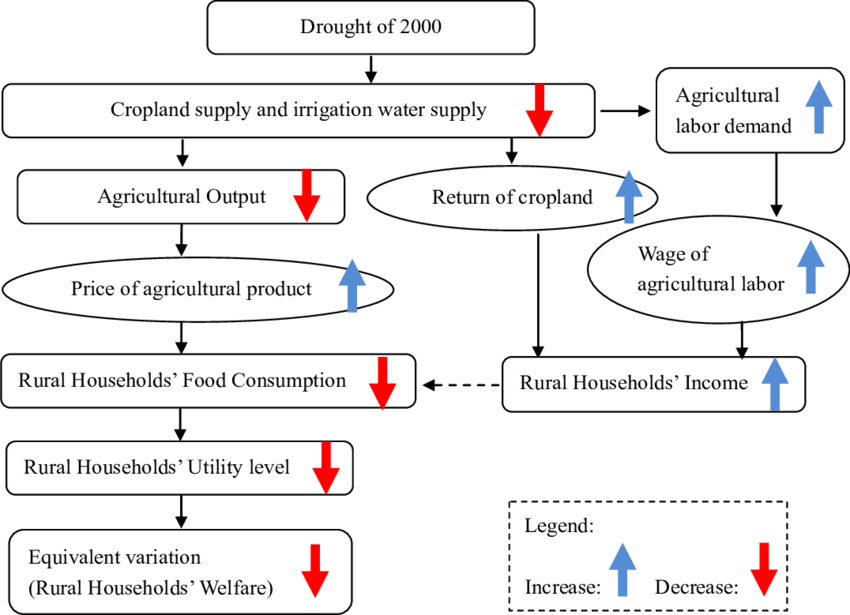 Drought drawing rural development. Flow chart of the