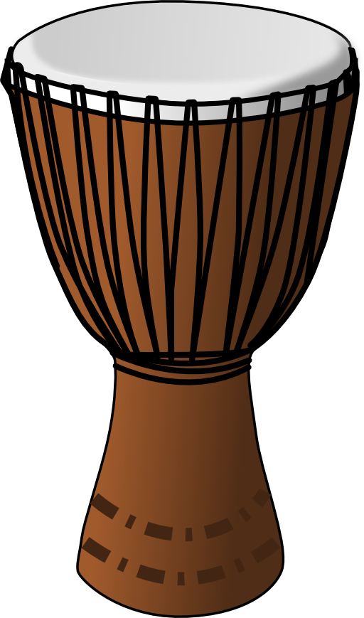 Drum clipart. Djembe i royalty free