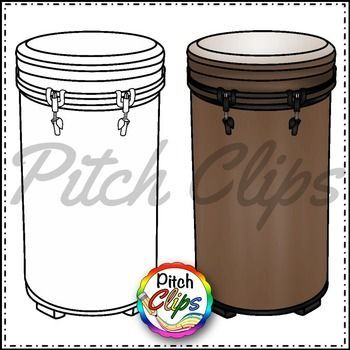 Drum clipart drum container. Tubano drums clip art