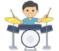 drum clipart drum player