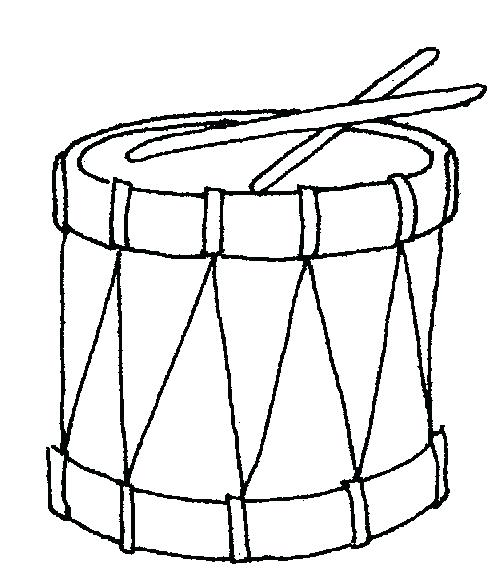 Drum clipart printable. Coloring page outline clip