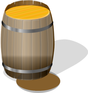 Drum clipart water drum. Wooden barrel clip art