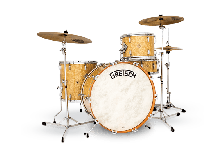 Drummer vector drumming. Broadkaster gretsch drums home