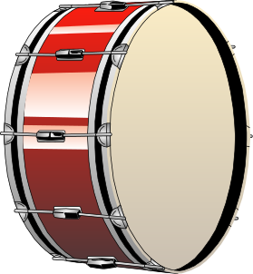 Drummer vector drumming. Archivo bass drum svg