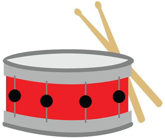 Snare clipart percussion. Drum clip art red
