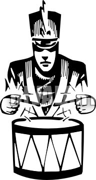 Drums clipart marching band drum. Drummer and vectorart sports