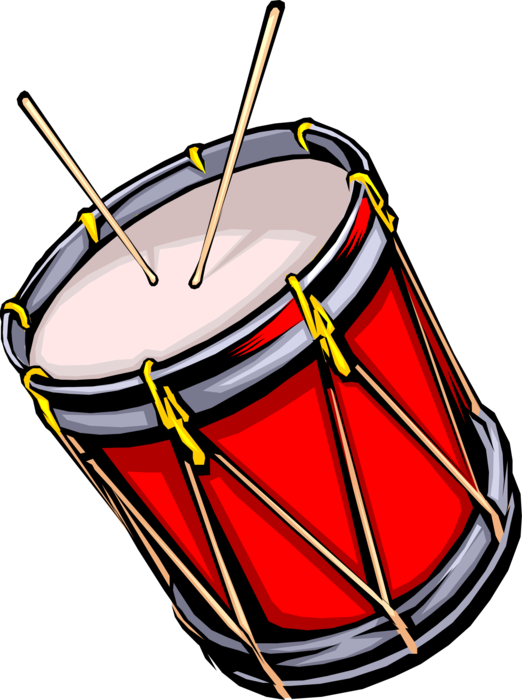 Drummer vector drumming. Military marching drum image