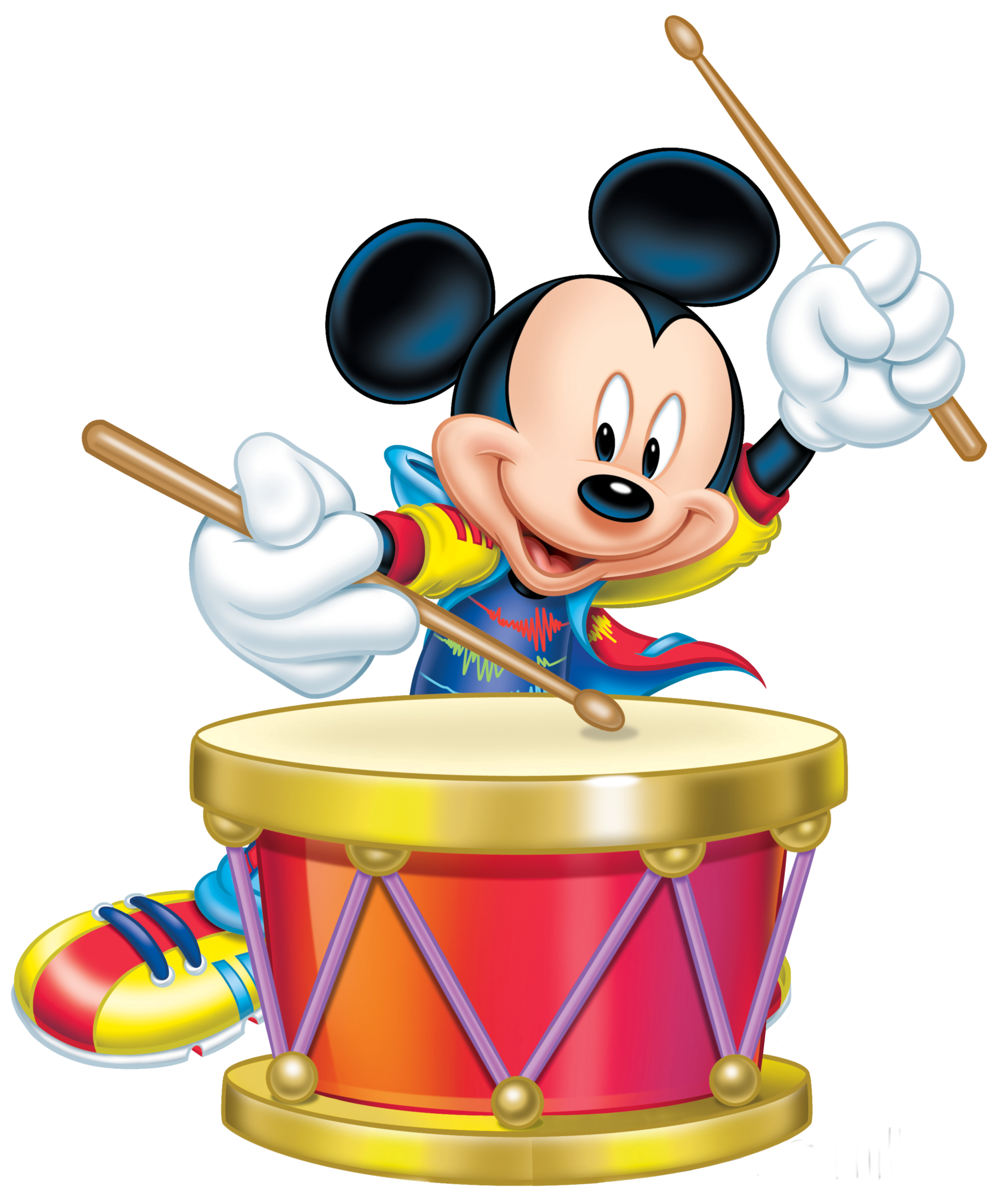 Drums png clipart. Mickey mouse with drum