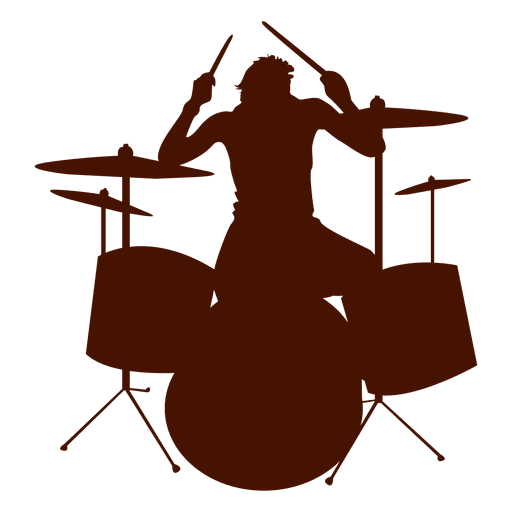 Drums png image. Musician music silhouette transparent