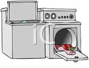 Dryer clipart. Image an open washer